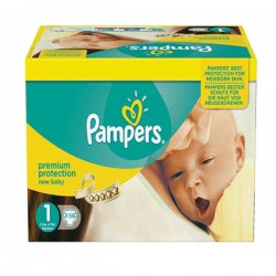 Pack jumeaux 576 Couches Pampers New Baby Premium Protection taille 1 sur Promo Couches