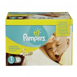 Pack jumeaux 648 Couches Pampers New Baby Premium Protection taille 1 sur Promo Couches