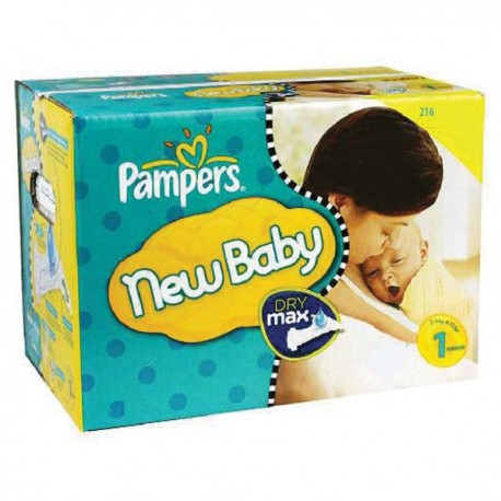 Pack jumeaux 720 Couches Pampers New Baby Premium Protection taille 1 sur Promo Couches