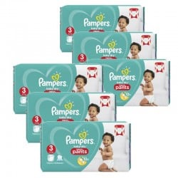 Pack 52 Couches Pampers Baby Dry Pants taille 3