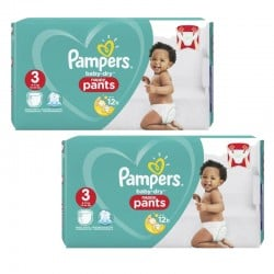 Mega pack 156 Couches Pampers Baby Dry Pants taille 3 sur Promo Couches