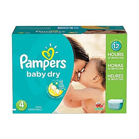 Pack jumeaux 858 Couches Pampers Baby Dry taille 4 sur Promo Couches