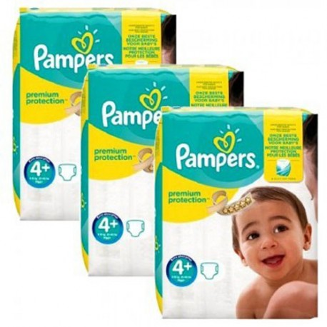 Pack jumeaux 504 Couches Pampers New Baby Premium Protection taille 4+ sur Promo Couches