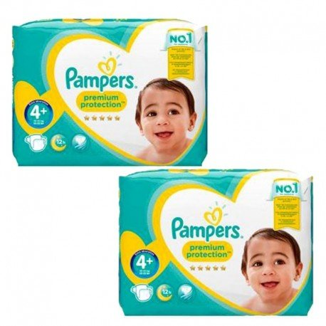 Pack jumeaux 525 Couches Pampers New Baby Premium Protection taille 4+ sur Promo Couches