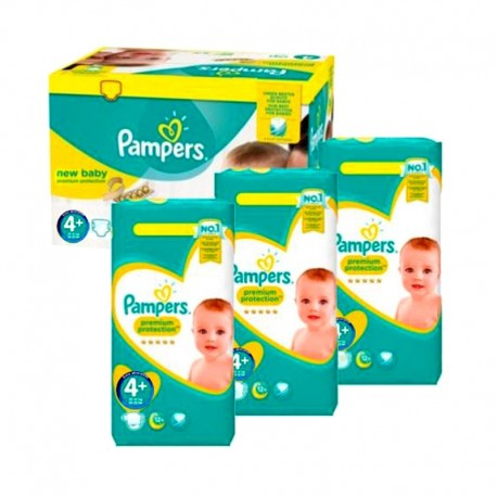 Pack jumeaux 588 Couches Pampers New Baby Premium Protection taille 4+ sur Promo Couches