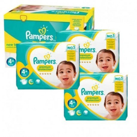 Pack jumeaux 609 Couches Pampers New Baby Premium Protection taille 4+ sur Promo Couches
