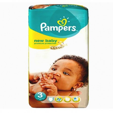 Pack 35 Couches Pampers New Baby Premium Protection taille 3 sur Promo Couches
