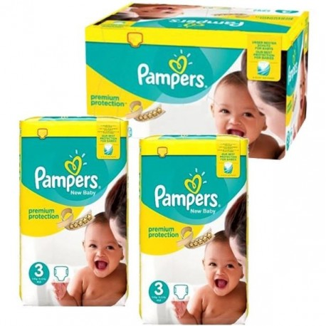 Giga pack 210 Couches Pampers New Baby Premium Protection taille 3 sur Promo Couches