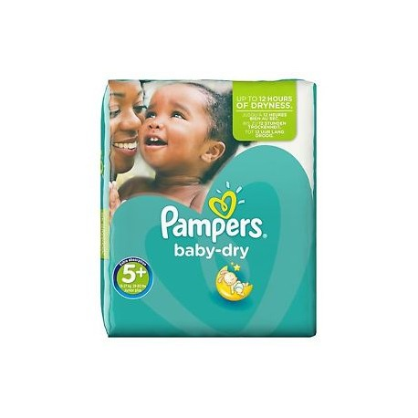 Pack 22 Couches Pampers Baby Dry taille 5+ sur Promo Couches