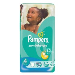Pack 17 Couches Pampers Active Baby Dry taille 4