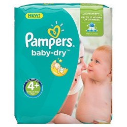 Pack 80 Couches Pampers Baby Dry taille 4+