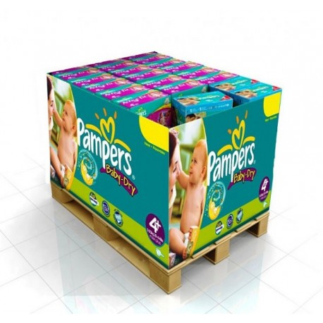 Maxi mega pack 400 Couches Pampers Baby Dry taille 4+ sur Promo Couches