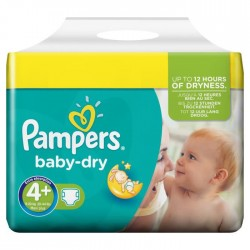 Maxi mega pack 480 Couches Pampers Baby Dry taille 4+ sur Promo Couches