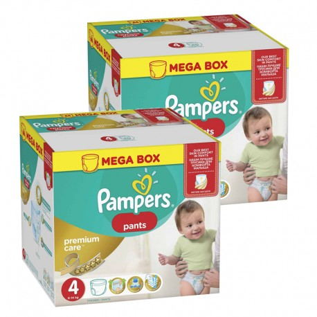 Mega pack 132 Couches Pampers Premium Care Pants taille 4 sur Promo Couches