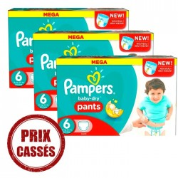 Mega pack 168 Couches Pampers Baby Dry Pants taille 6