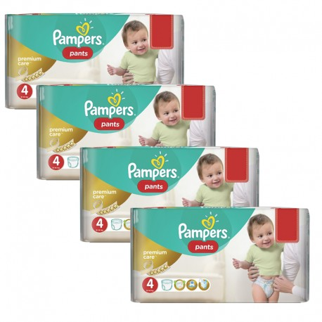Maxi giga pack 330 Couches Pampers Premium Care Pants taille 4 sur Promo Couches