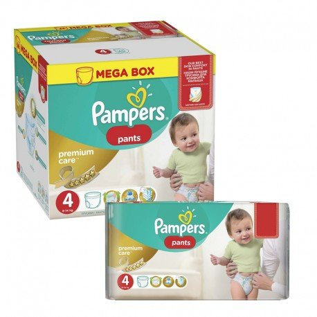 Maxi giga pack 396 Couches Pampers Premium Care Pants taille 4 sur Promo Couches