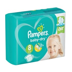 Pack 20 Couches Pampers Baby Dry taille 8 sur Promo Couches