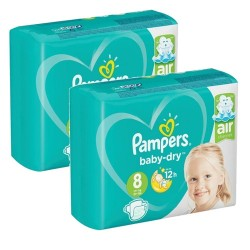Pack 60 Couches Pampers Baby Dry taille 8 sur Promo Couches
