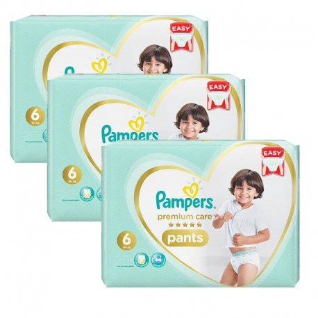 Pack 72 Couches Pampers Premium Care Pants taille 6 sur Promo Couches