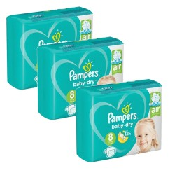 Mega pack 100 Couches Pampers Baby Dry taille 8 sur Promo Couches