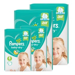 Mega pack 120 Couches Pampers Baby Dry taille 8 sur Promo Couches