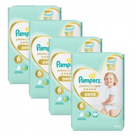 Giga pack 216 Couches Pampers Premium Care Pants taille 6 sur Promo Couches