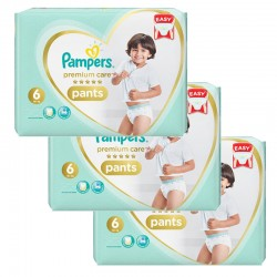 Giga pack 252 Couches Pampers Premium Care Pants taille 6