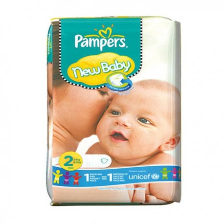 Pack 80 Couches Pampers New Baby taille 2 sur Promo Couches