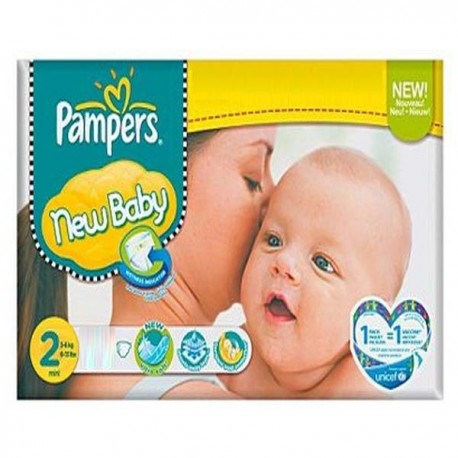 560 Couches Pampers New Baby Premium Protection taille 2 sur Promo Couches