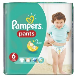 Pack 60 Couches Pampers Baby Dry Pants taille 6