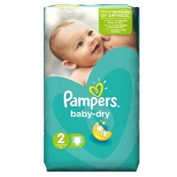 Pack 35 Couches Pampers de la gamme Baby Dry taille 2 sur Promo Couches