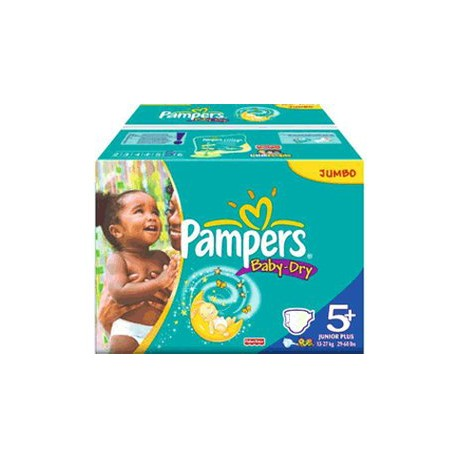 Giga pack 204 Couches Pampers Baby Dry taille 5+ sur Promo Couches