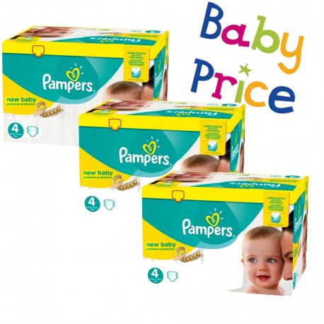 256 Couches Pampers New Baby Premium Protection taille 4 sur Promo Couches