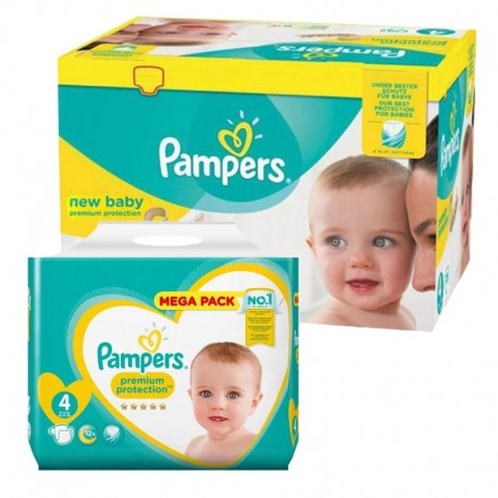 Pack jumeaux 640 Couches Pampers New Baby Premium Protection taille 4 sur Promo Couches