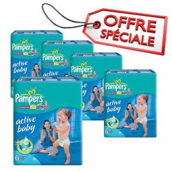 Giga pack 294 Couches Pampers Active Baby Dry taille 6