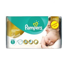 Pack 22 Couches Pampers New Baby Premium Care taille 1