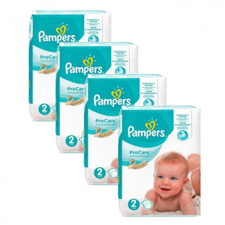 Maxi giga pack 396 Couches Pampers ProCare Premium protection taille 2 sur Promo Couches