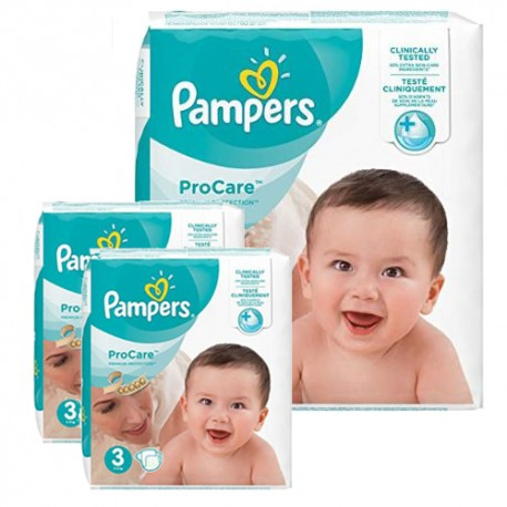 Pack 64 Couches Pampers ProCare Premium protection taille 3 sur Promo Couches