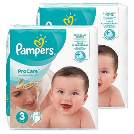 Mega pack 128 Couches Pampers ProCare Premium protection taille 3 sur Promo Couches
