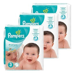 Maxi giga pack 384 Couches Pampers ProCare Premium protection taille 3