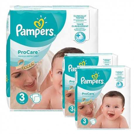 Maxi mega pack 480 Couches Pampers ProCare Premium protection taille 3 sur Promo Couches