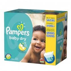 Pack économique de 340 Couches Pampers Baby Dry de taille 3+ sur Promo Couches