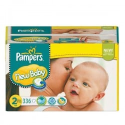 Mega pack 164 Couches Pampers New Baby Premium Protection taille 2