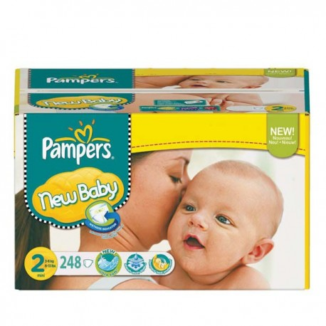 Maxi mega pack 410 Couches Pampers New Baby Premium Protection taille 2 sur Promo Couches