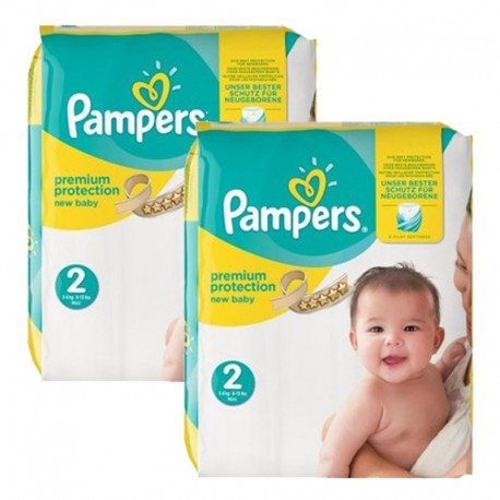 Pack jumeaux 656 Couches Pampers New Baby Premium Protection taille 2 sur Promo Couches