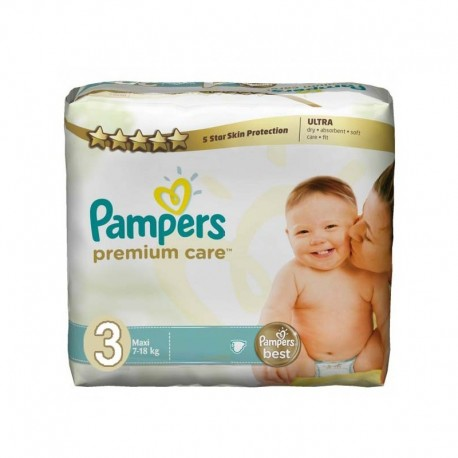 Pack 20 Couches Pampers Premium Care taille 3 sur Promo Couches
