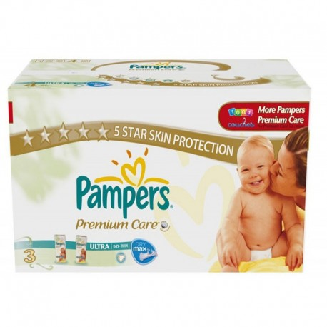 Pack 80 Couches Pampers Premium Care taille 3 sur Promo Couches