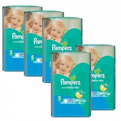 Pack jumeaux 605 Couches Pampers Active Baby Dry taille 5