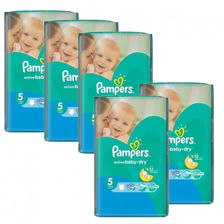 605 Couches Pampers Active Baby Dry taille 5 sur Promo Couches